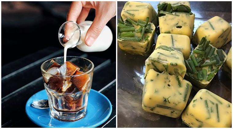 use ice cube tray, ice cube tray to make coffee, ice cube tray make wine, ice cube tray desserts, different uses of ice cube tray, ice cubes, indian express, indian express news