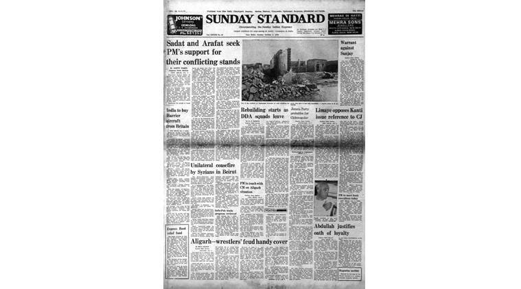 forty years ago, Indian Express news, Indian Express forty years ago, Indian express editorial