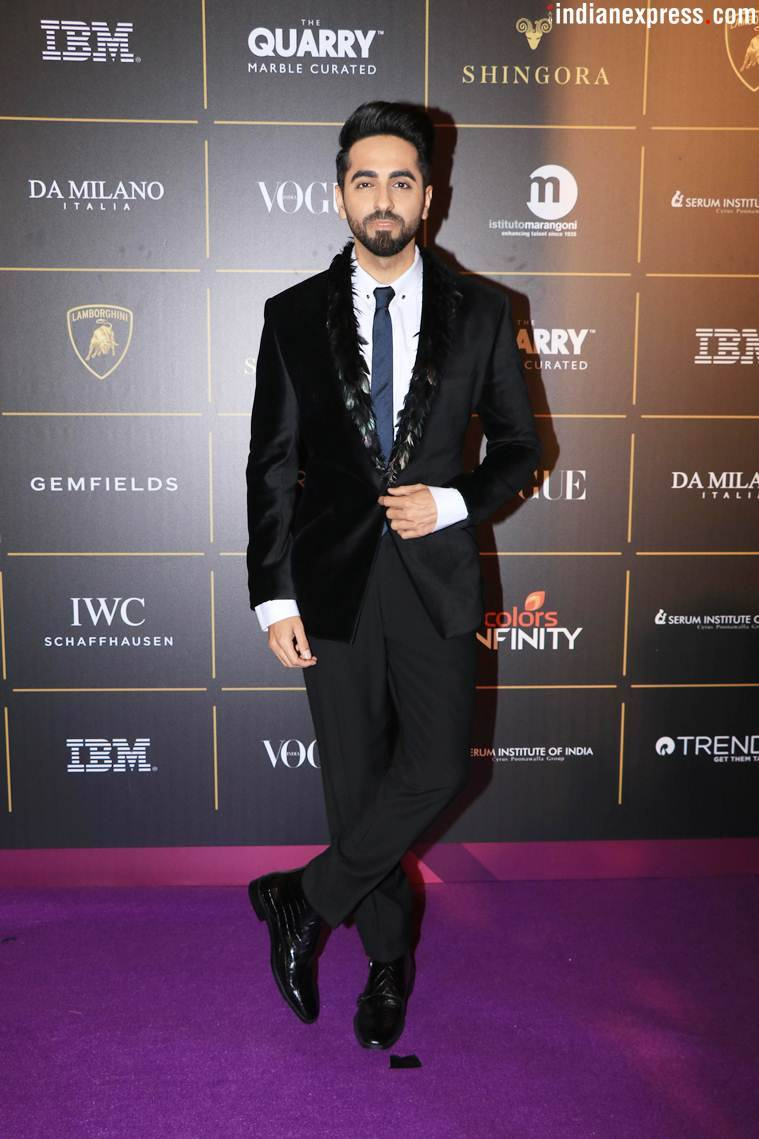 Ayushmann Khurrana, Filmfare, Isha Bhansali, AndhaDhun, Baadhai Ho, Ayushmann Khurrana style, Ayushmann Khurrana quirky looks, Ayushmann Khurrana updates, Ayushmann Khurrana latest news, Ayushmann Khurrana latest pics, celeb fashion, bollywood fashion, indian express, indian express news