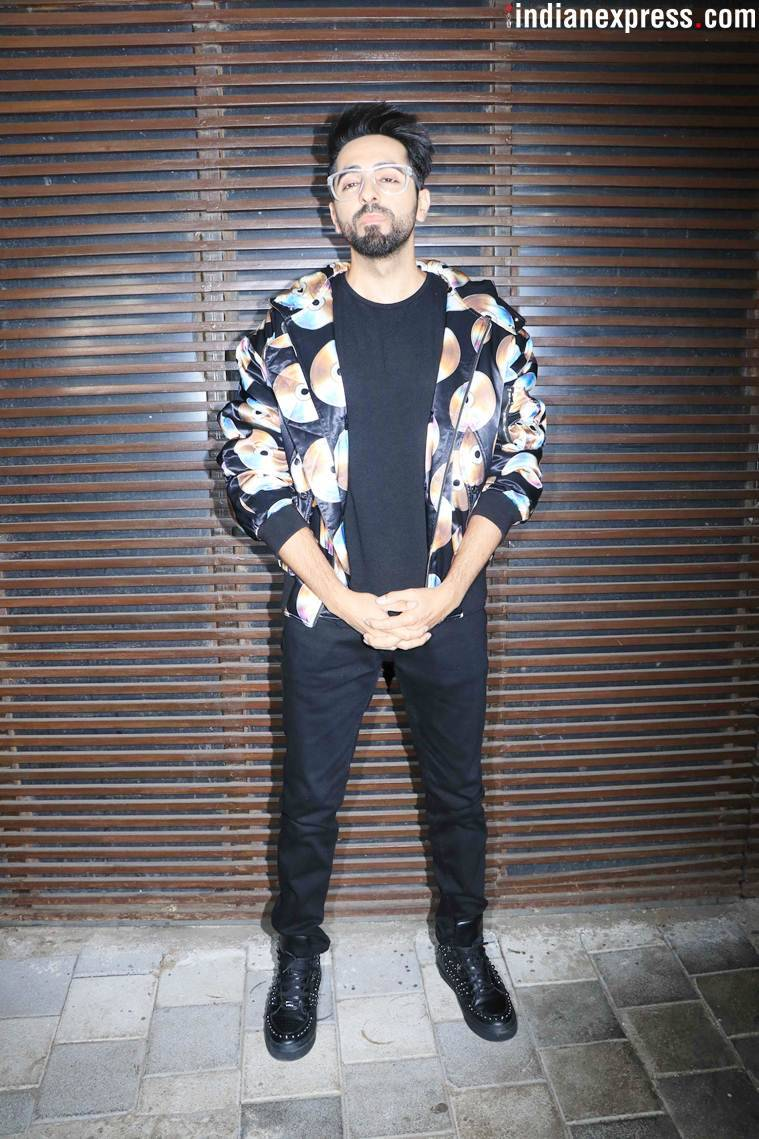 ayushmann khurrana at badhaai ho success bash