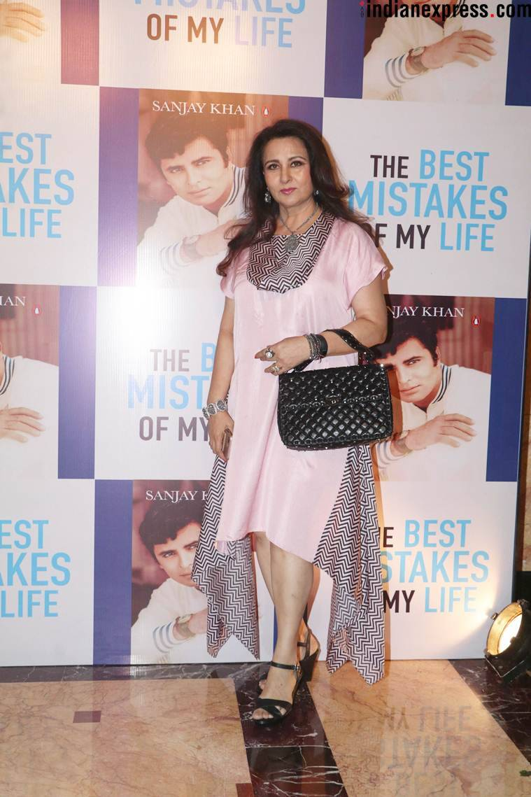 Poonam Dhillon at Sanjay Khan autobiography launch