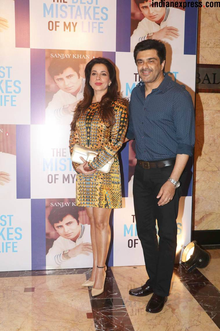 Neelam Kothari and Samir Soni at the launch of Sanjay Khan autobiography