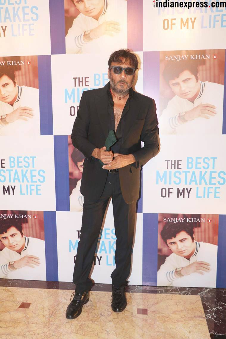 Jackie Shroff at Sanjay Khan biography launch