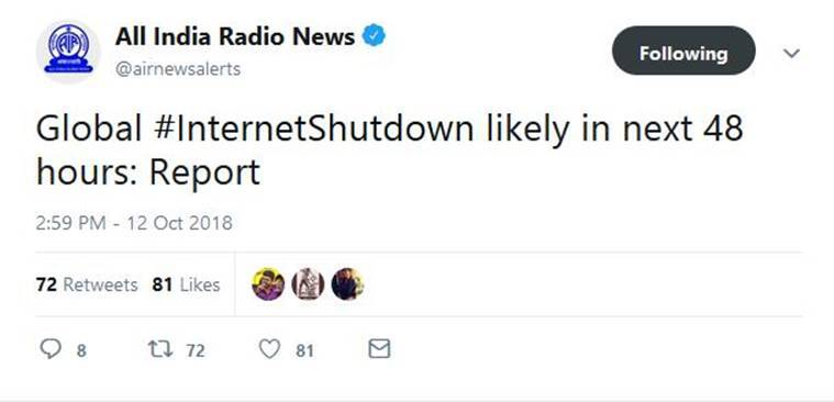 internet shutdown, global internet shutdown, icann, internet shutdown hoax, indianexpress news