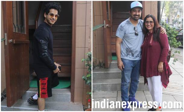 ishaan Khattar and Rannvijay Singh with his mother