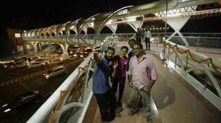 ITO skywalk opens to public as Centre, Delhi govt face-off continues