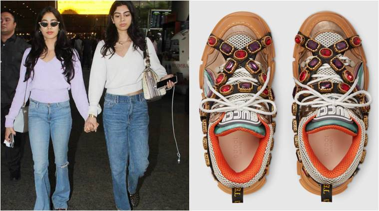Janhvi Kapoor, Janhvi Kapoor gucci shoes, Janhvi Kapoor expensive shoes