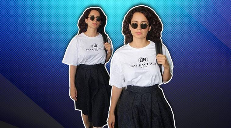 kangana ranaut, kangana ranaut airport, kangana ranaut airport look, kangana ranaut latest photo, indian express, indian express news