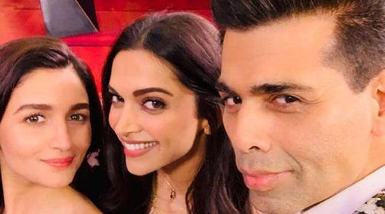 koffee with karan hosts deepika padukone and alia bhatt
