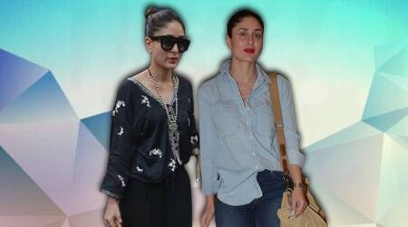 kareena kapoor, kareena kapoor denim, kareena kapoor denim on denim, kareena kapoor zara top, indian express, indian express news