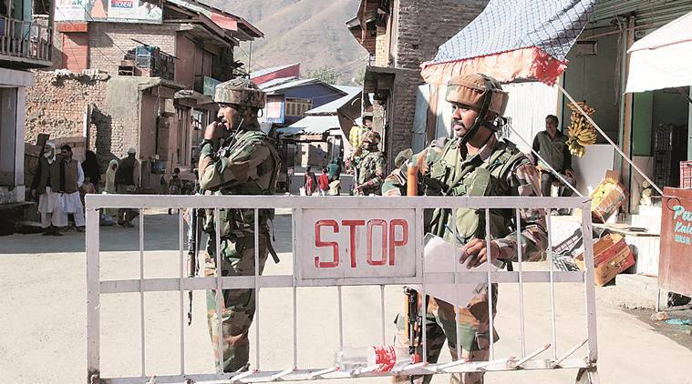 Security has been intensified across the Valley, with officials maintaining that elaborate arrangements have been made in all districts. (Express photo/Shuaib Masoodi)