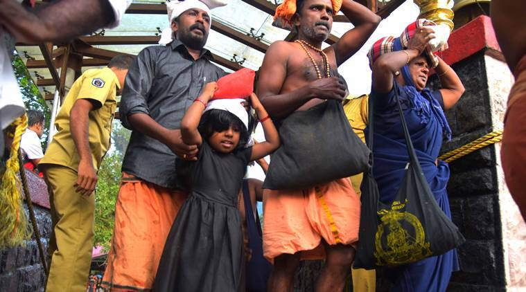 sabarimala protest, women not allowed to enter hill shrine in kerala