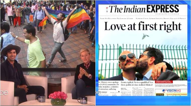 ellen show, kunal nayyar, kunal nayyar ellen show, section 377 verdict, india homosexuality, big bang theory, indian express, ellen show sec 377 verdict, viral news