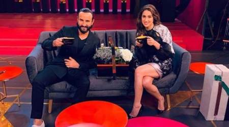 Sara Ali Khan and Saif Ali Khan shoot for Koffee with Karan