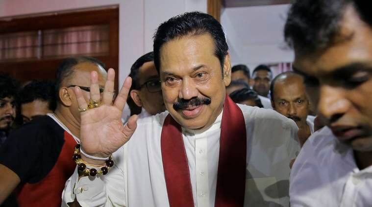 sri lanka, Mahinda Rajapakse, New Sri Lanka PM, rajapakse PM, rajapakse sworn in, Wickremesinghe, sri lanka politics, indian express