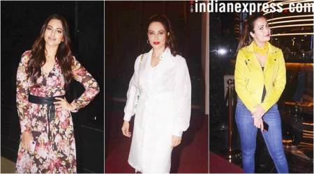 Loveyatri screening: Sonakshi, Iulia and others watch Aayush-Warina film