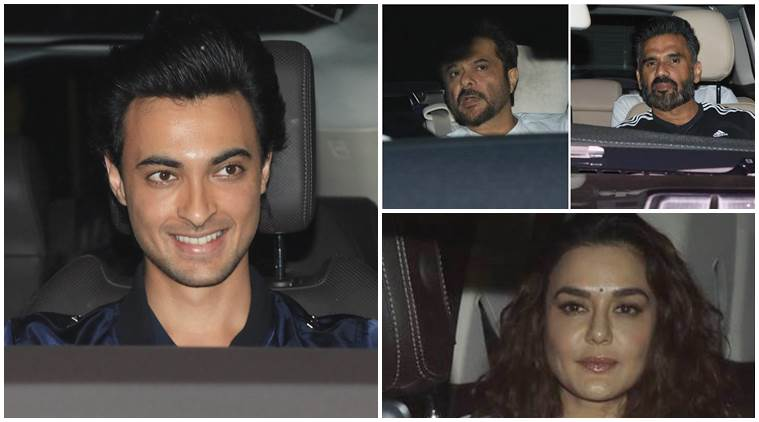 Loveyatri screening photos Anil Kapoor, Preity Zinta, Suniel Shetty Aayush Sharma film