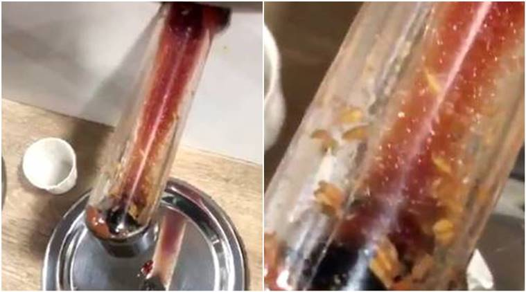 McDonald's customer claims to find 'maggots', maggots in sauce dispense, maggots in McDonald's sauce dispenser, McDonald, McDonald's news, twitter, twitter reaction, indian express, indian express news