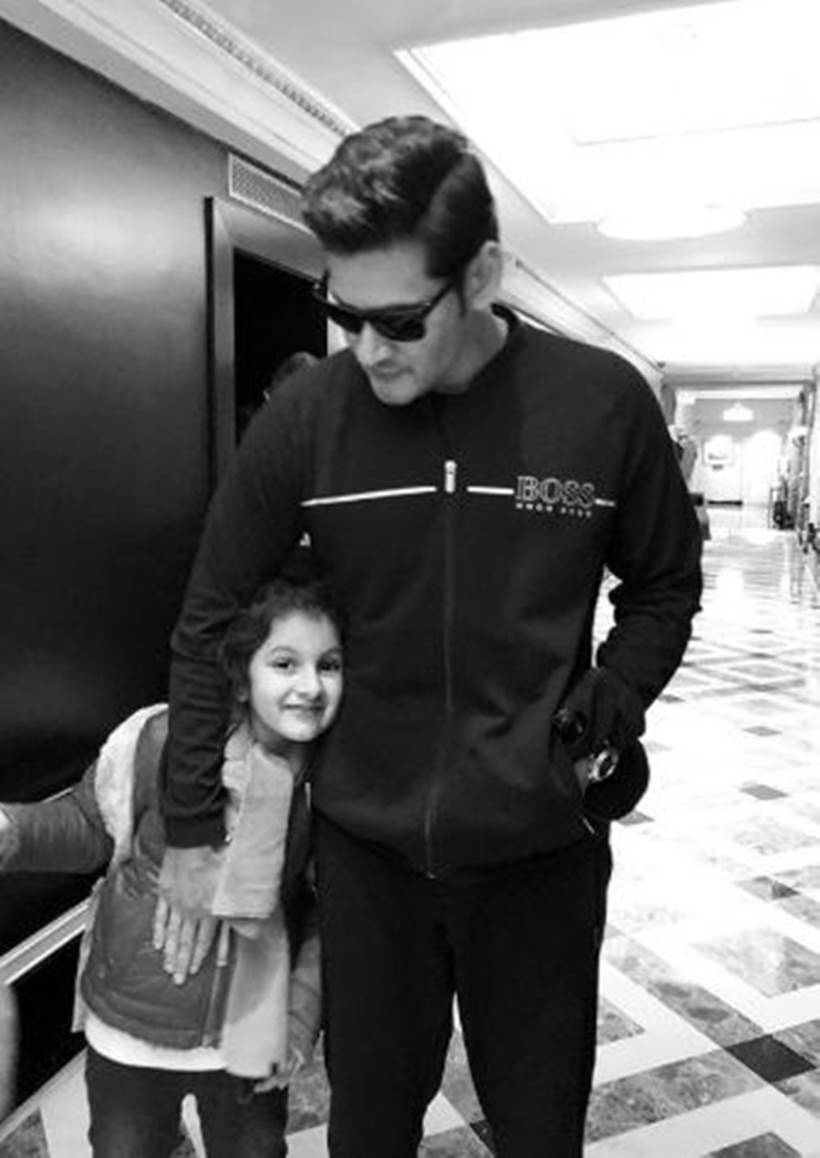 Mahesh Babu with daughter