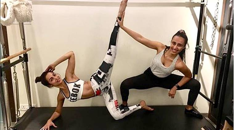 Malaika Arora, Malaika Arora fitness, Malaika Arora Pilates stretches