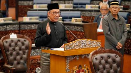 Malaysia Prime Minister, oath ceremony, swearing-in ceremony, Anwar Ibrahim, World news, Indian Express news