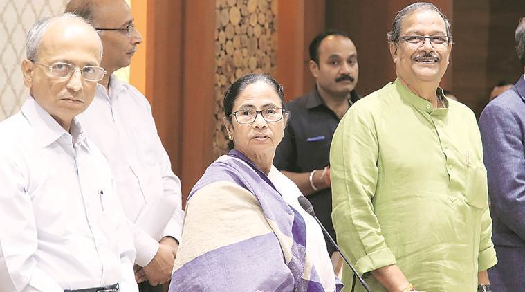 CM Mamata Banerjee in Kolkata on Friday. (Express photo)