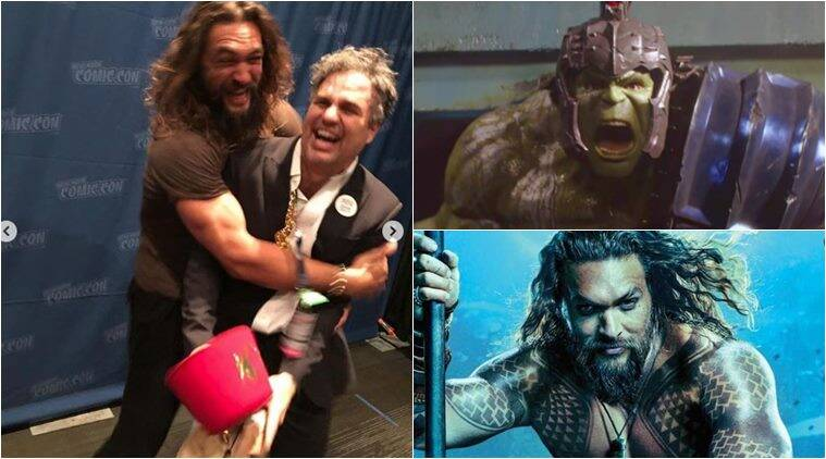 jason momoa and mark ruffalo at new york comic con