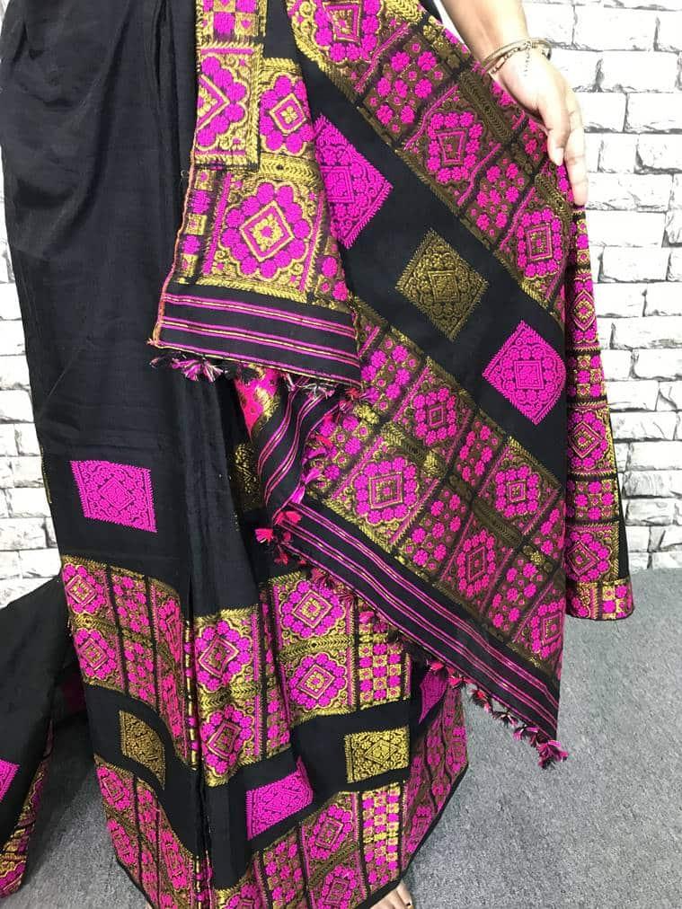 mekhela, mekhela chadar, traditional Assamese attire, Durga Puja, style file, how to wear, what to wear, traditional Indian wear, indian express, indian express news