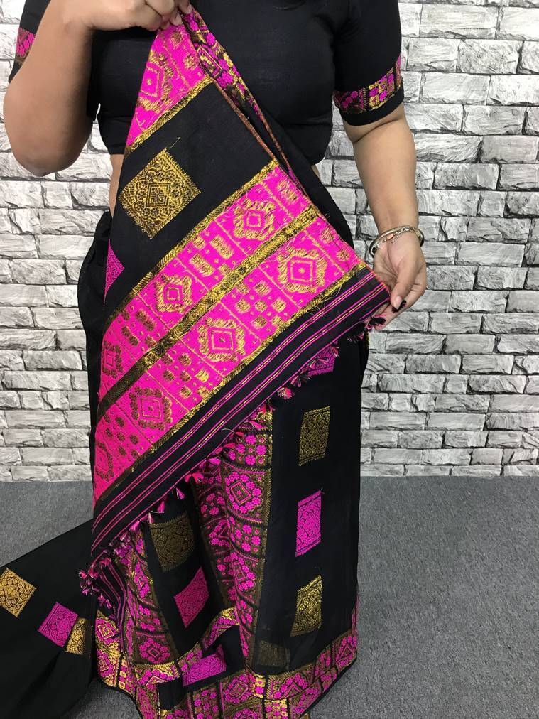mekhela, mekhela chadar, traditional Assamese attire, Durga Puja, style file, how to wear, what to wear, traditional Indian wear, indian express, indian express news
