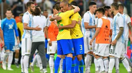 Miranda scores to give Brazil 1-0 win over Argentina in friendly