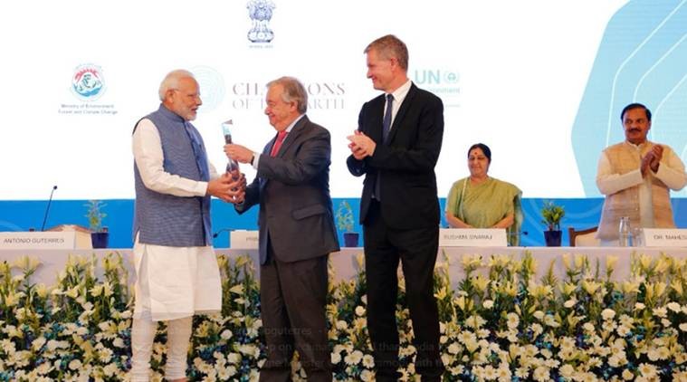 PM Modi, five others receives UNEP 'Champions of the Earth Awards'