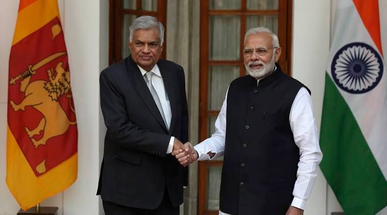 Narendra Modi, Ranil Wickremesinghe, India Sri Lanka, Indian Express