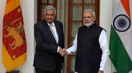 Narendra Modi, Ranil Wickremesinghe, India Sri Lanka, Indian Express