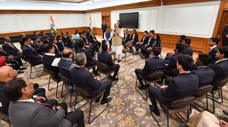 PM Narendra Modi meets YOG medal winners