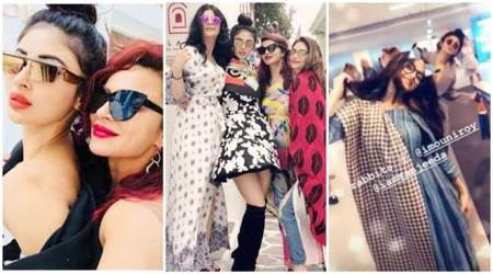 Mouni Roy, Aashka Goradia, Sanjeeda Shaikh and others have a blast in Greece