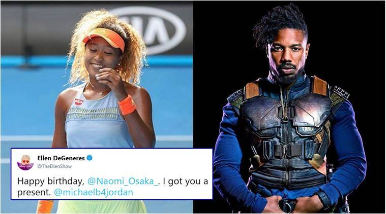 Naomi Osaka receives shirtless Michael B. Jordan for birthday