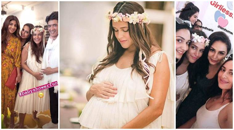 Neha Dhupia baby shower inside photos Angad Bedi