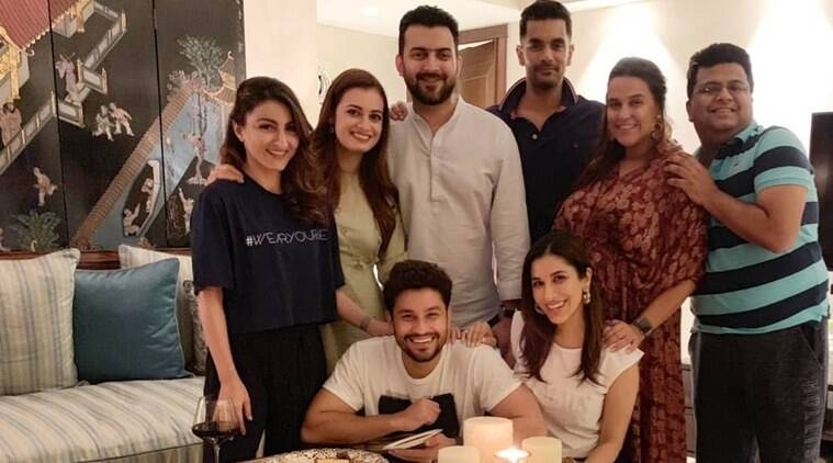 Neha Dhupia-Angad Bedi, Soha-Kunal and Dia Mirza share laughs at Sophie Choudry's house party