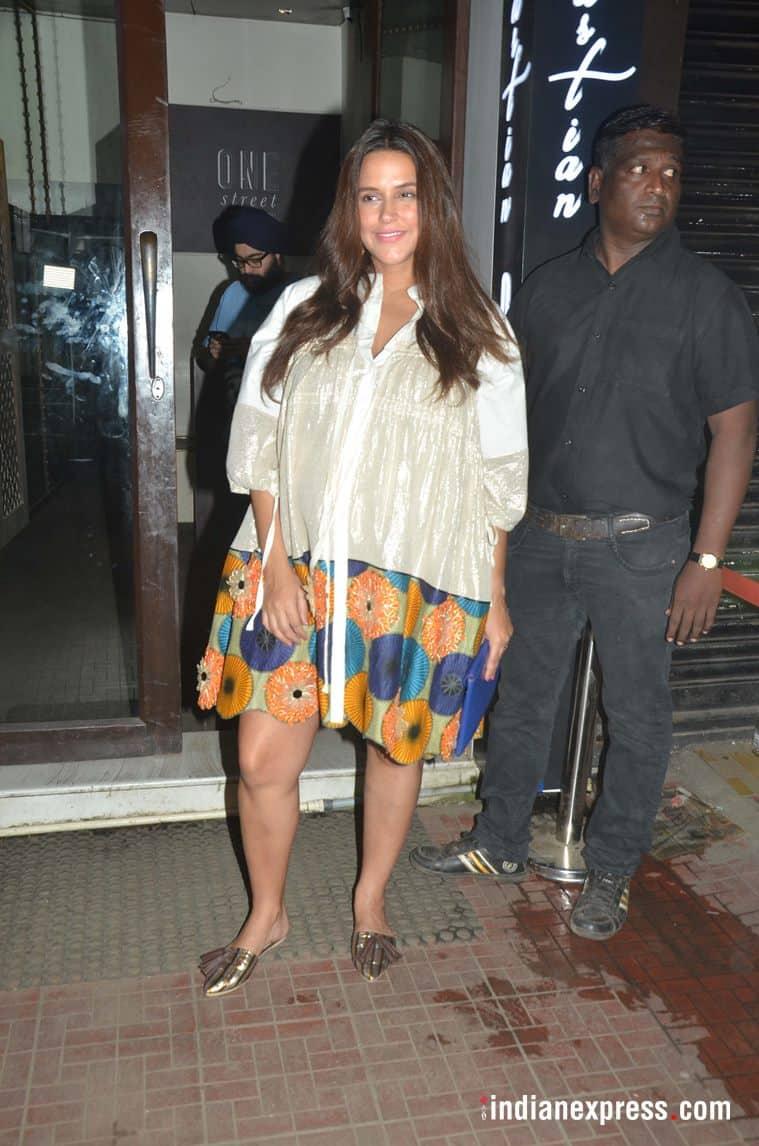 Neha Dhupia at Soha Ali Khan's birthday