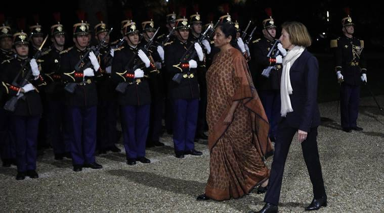 Nirmala Sitharaman, sitharaman meets Parly, rafale deal, indian france jet deal, defence minister nirmala sitharaman, Florence Parly, French Defence Minister Florence Parly, indian express, world news