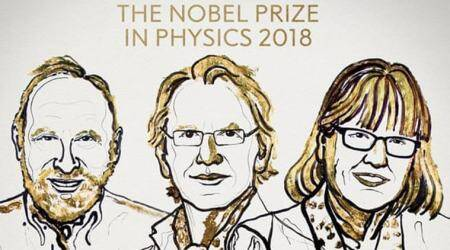 Arthur Ashkin, Donna Strickland, Gerard Mourou, Indian Express