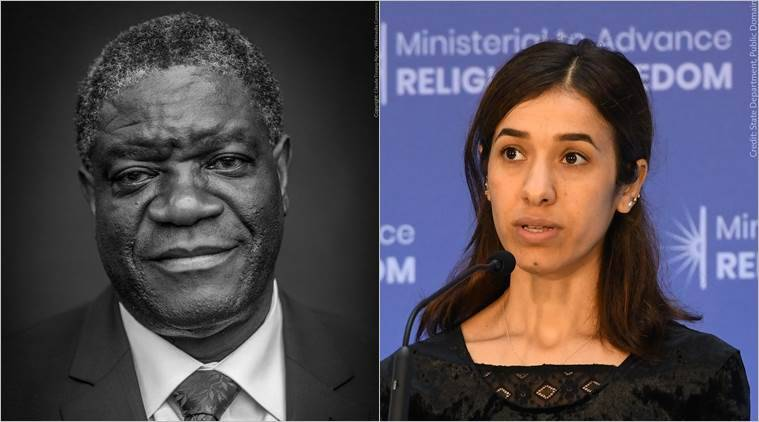 Nobel Peace Prize awarded to Denis Mukwege and Nadia Murad