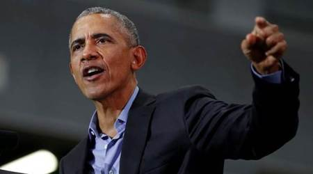 Barack Obama says sending troops to Mexican border is Donald Trump's 'political stunt'