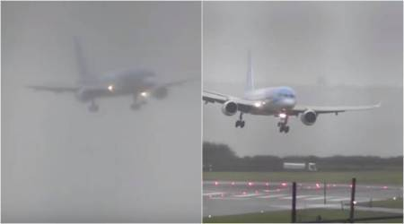 Pilot executes dangerous sideways landing at UK airport during storm; video goes viral