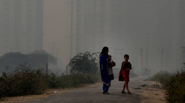 air pollution in delhi, delhi' sair pollution, delhi pollution, air quality index, delhi's air quality, worsening air quality, delhi environment, delhi news, indian express