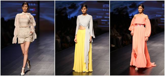 Lotus Make-Up India Fashion Week, Tabu, Yami Gautam, Prachi Desai, Athiya Shetty, LMIFW 2018, LMIFW Spring/Summer 2019 collection, Sanjukta Dutta, Poshpride, Architha Narayanam, Wrap n Weft, celeb fashion, bollywood fashion, fashion week, indian express, indian express news