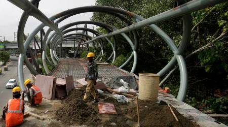 pragati maidan, pagati maidan skywalk, under construction project at Pragati maidan, development project, environmental clearance, ngt, dpcc, delhi environment, delhi air pollution, delhi pollution, delhi environment news, indian express