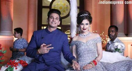 Prince Narula And Yuvika Chaudhary Reception