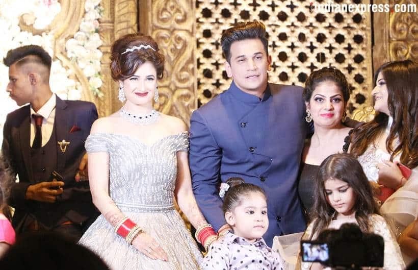 prince narula, yuvika chaudhary reception photos