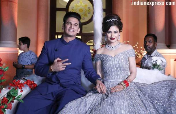 prince narula, yuvika chaudhary reception